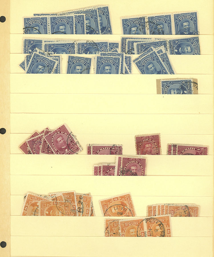 Lot 857 - haiti Lots and Collections -  Guillermo Jalil - Philatino Auction #1924 WORLDWIDE + ARGENTINA: General June auction