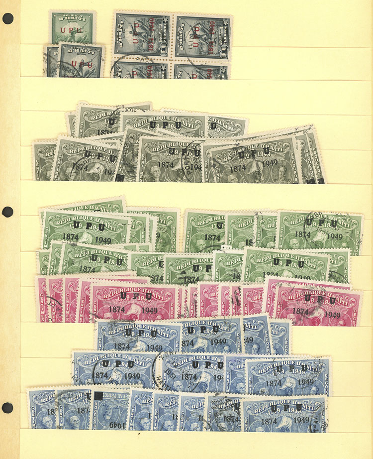 Lot 856 - haiti Lots and Collections -  Guillermo Jalil - Philatino Auction #1924 WORLDWIDE + ARGENTINA: General June auction