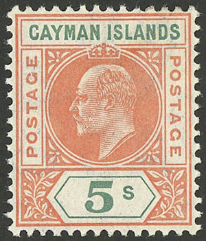 Lot 622 - cayman islands general issues -  Guillermo Jalil - Philatino Auction #1924 WORLDWIDE + ARGENTINA: General June auction