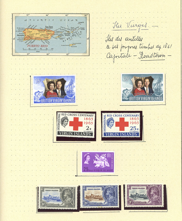 Lot 1172 - Virgin Islands Lots and Collections -  Guillermo Jalil - Philatino Auction #1924 WORLDWIDE + ARGENTINA: General June auction