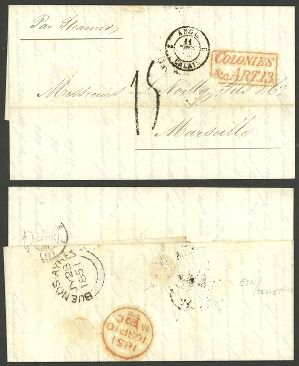 Lot 347 - Argentina postal history -  Guillermo Jalil - Philatino Auction #1924 WORLDWIDE + ARGENTINA: General June auction