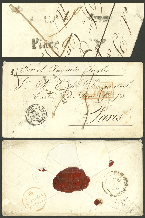 Lot 348 - Argentina postal history -  Guillermo Jalil - Philatino Auction #1924 WORLDWIDE + ARGENTINA: General June auction