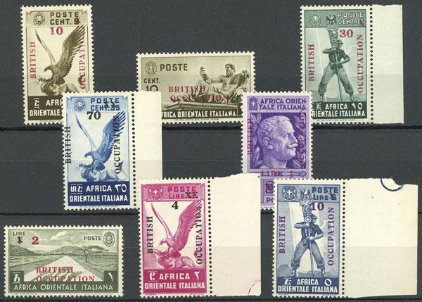Lot 15 - italian east africa british occupation -  Guillermo Jalil - Philatino Auction #1924 WORLDWIDE + ARGENTINA: General June auction