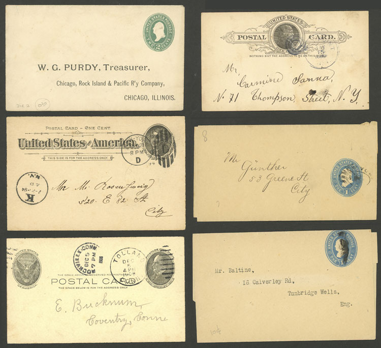 Lot 739 - united states Postal stationery -  Guillermo Jalil - Philatino Auction #1924 WORLDWIDE + ARGENTINA: General June auction