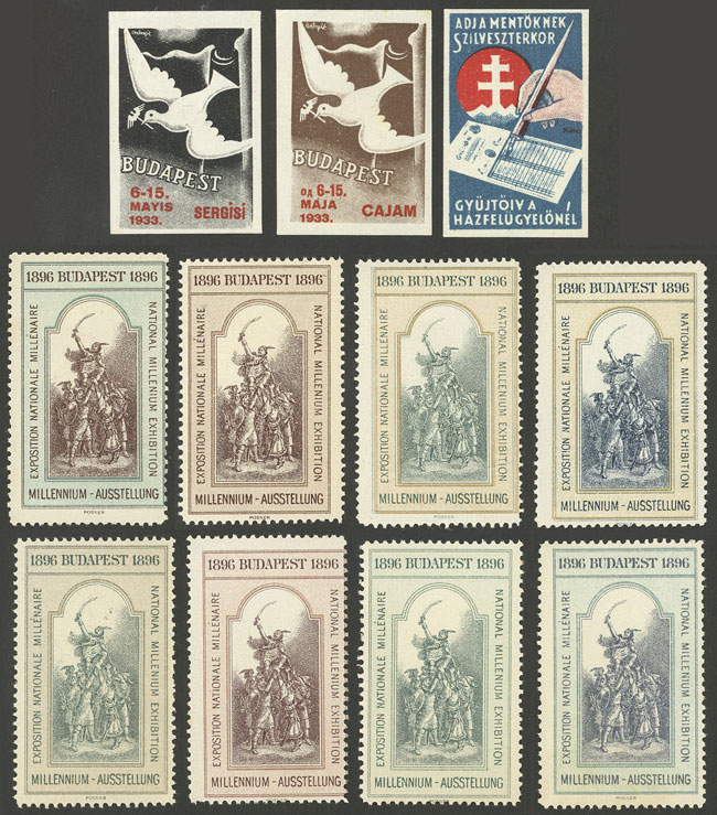 Lot 868 - Hungary cinderellas -  Guillermo Jalil - Philatino Auction #1924 WORLDWIDE + ARGENTINA: General June auction