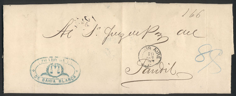Lot 351 - Argentina postal history -  Guillermo Jalil - Philatino Auction #1924 WORLDWIDE + ARGENTINA: General June auction