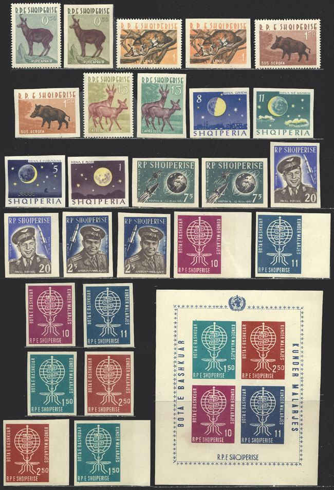 Lot 19 - Albania Lots and Collections -  Guillermo Jalil - Philatino Auction #1924 WORLDWIDE + ARGENTINA: General June auction