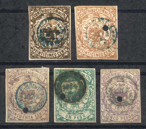 Lot 966 - Mexico revenue stamps -  Guillermo Jalil - Philatino Auction #1924 WORLDWIDE + ARGENTINA: General June auction