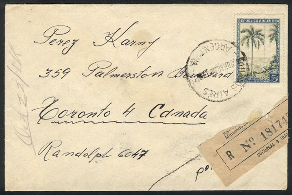 Lot 420 - Argentina postal history -  Guillermo Jalil - Philatino Auction #1924 WORLDWIDE + ARGENTINA: General June auction