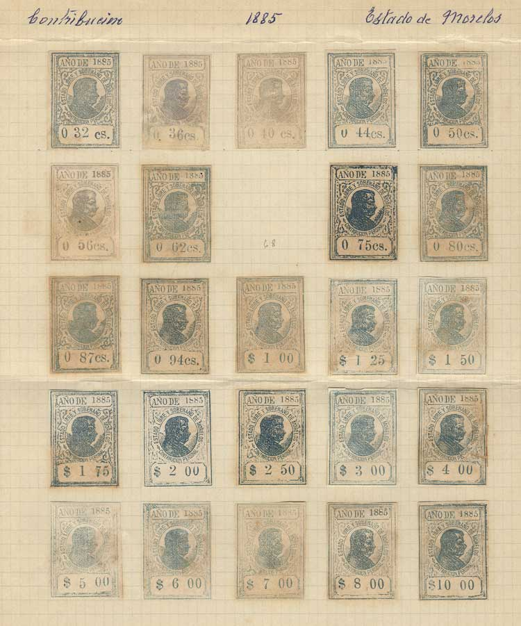 Lot 964 - Mexico revenue stamps -  Guillermo Jalil - Philatino Auction #1924 WORLDWIDE + ARGENTINA: General June auction
