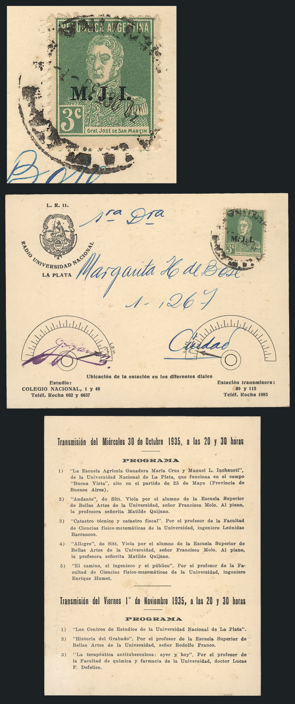 Lot 323 - Argentina official stamps - postal history -  Guillermo Jalil - Philatino Auction #1924 WORLDWIDE + ARGENTINA: General June auction