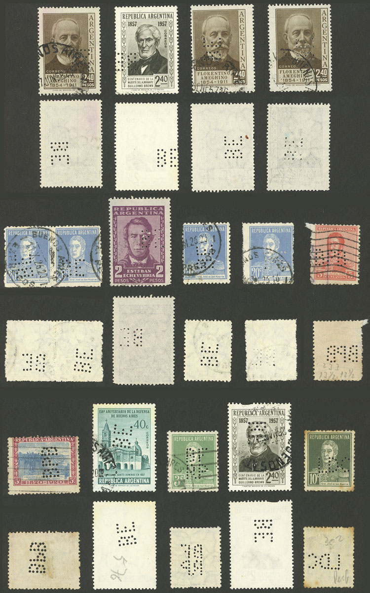 Lot 1695 - Argentina lots -  Guillermo Jalil - Philatino Auction #1925 ARGENTINA:
