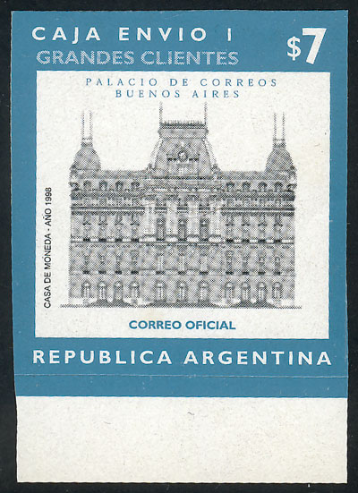 Lot 1222 - Argentina parcel post stamps -  Guillermo Jalil - Philatino Auction #1925 ARGENTINA: