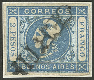 Lot 9 - Argentina cabecitas -  Guillermo Jalil - Philatino Auction #1926 ARGENTINA: Selection of rarities and scarce material!