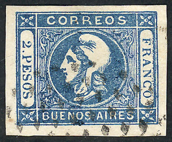 Lot 8 - Argentina cabecitas -  Guillermo Jalil - Philatino Auction #1926 ARGENTINA: Selection of rarities and scarce material!