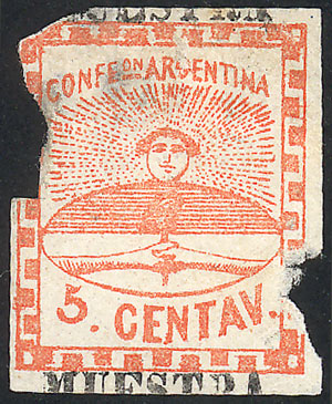 Lot 23 - Argentina confederation -  Guillermo Jalil - Philatino Auction #1927 ARGENTINA: