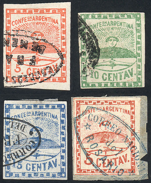 Lot 24 - Argentina confederation -  Guillermo Jalil - Philatino Auction #1927 ARGENTINA: