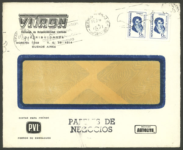 Lot 786 - Argentina postal history -  Guillermo Jalil - Philatino Auction #1927 ARGENTINA: