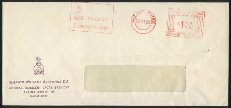 Lot 772 - Argentina postal history -  Guillermo Jalil - Philatino Auction #1927 ARGENTINA: