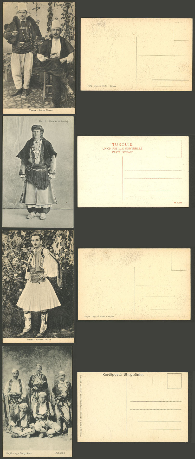 Lot 8 - Albania postcards -  Guillermo Jalil - Philatino Auction #1928 WORLDWIDE + ARGENTINA: General Winter auction