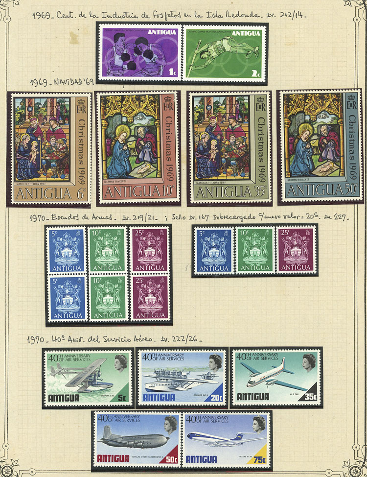 Lot 59 - antigua Lots and Collections -  Guillermo Jalil - Philatino Auction #1928 WORLDWIDE + ARGENTINA: General Winter auction