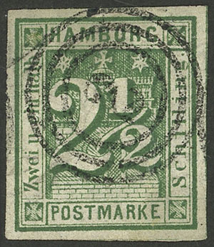 Lot 10 - germany hamburg -  Guillermo Jalil - Philatino Auction #1928 WORLDWIDE + ARGENTINA: General Winter auction