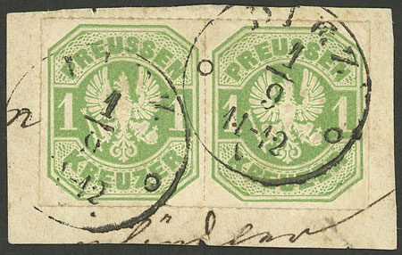 Lot 11 - germany prussia -  Guillermo Jalil - Philatino Auction #1928 WORLDWIDE + ARGENTINA: General Winter auction