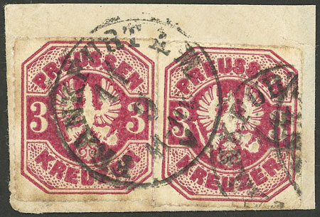 Lot 12 - germany prussia -  Guillermo Jalil - Philatino Auction #1928 WORLDWIDE + ARGENTINA: General Winter auction