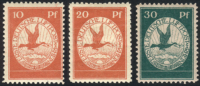 Lot 13 - germany airmail -  Guillermo Jalil - Philatino Auction #1928 WORLDWIDE + ARGENTINA: General Winter auction