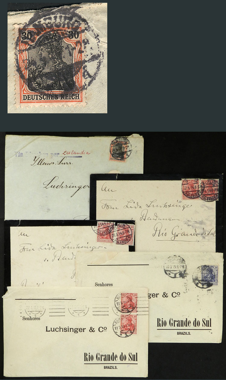 Lot 18 - germany postal history -  Guillermo Jalil - Philatino Auction #1928 WORLDWIDE + ARGENTINA: General Winter auction