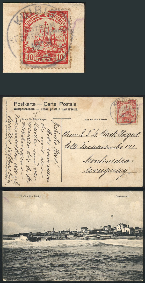 Lot 7 - german south-west africa postal history -  Guillermo Jalil - Philatino Auction #1928 WORLDWIDE + ARGENTINA: General Winter auction