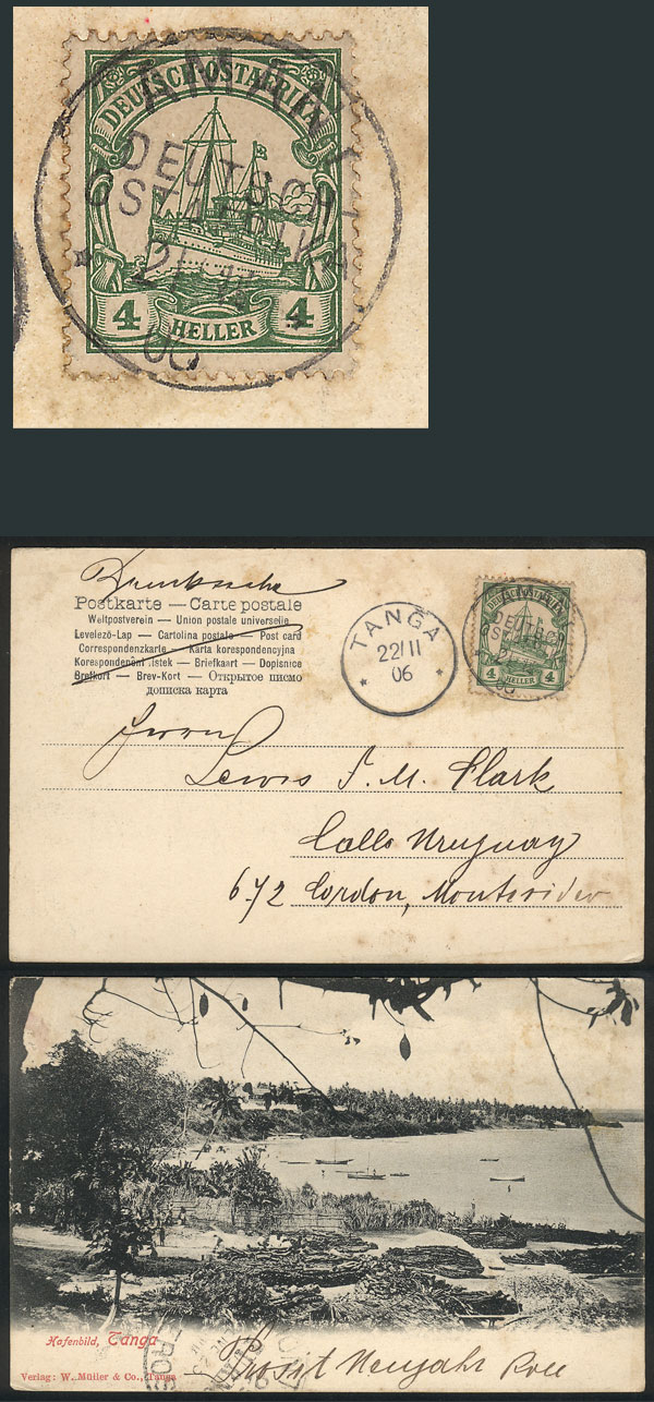 Lot 6 - german east africa postal history -  Guillermo Jalil - Philatino Auction #1928 WORLDWIDE + ARGENTINA: General Winter auction