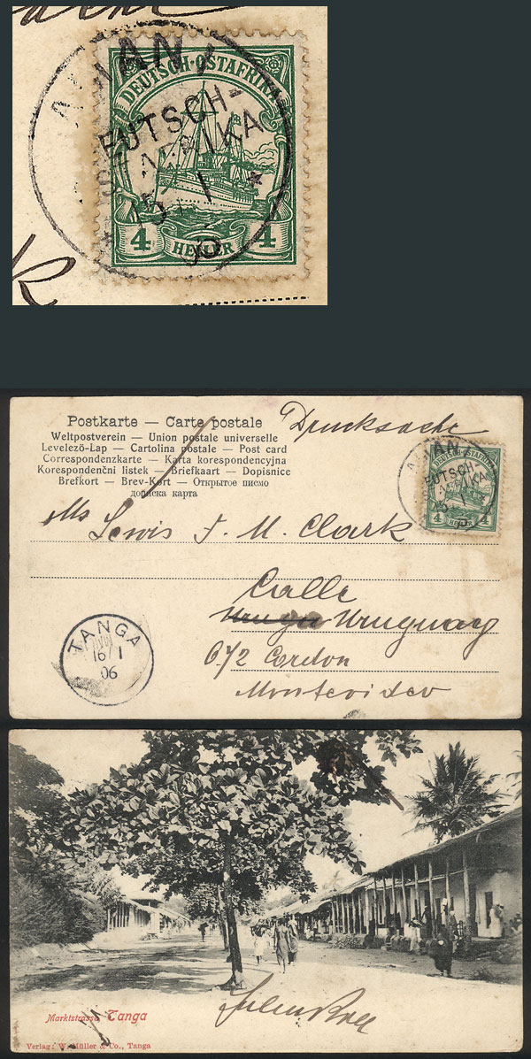 Lot 4 - german east africa postal history -  Guillermo Jalil - Philatino Auction #1928 WORLDWIDE + ARGENTINA: General Winter auction
