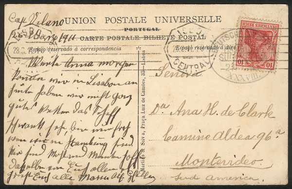 Lot 17 - germany postal history -  Guillermo Jalil - Philatino Auction #1928 WORLDWIDE + ARGENTINA: General Winter auction