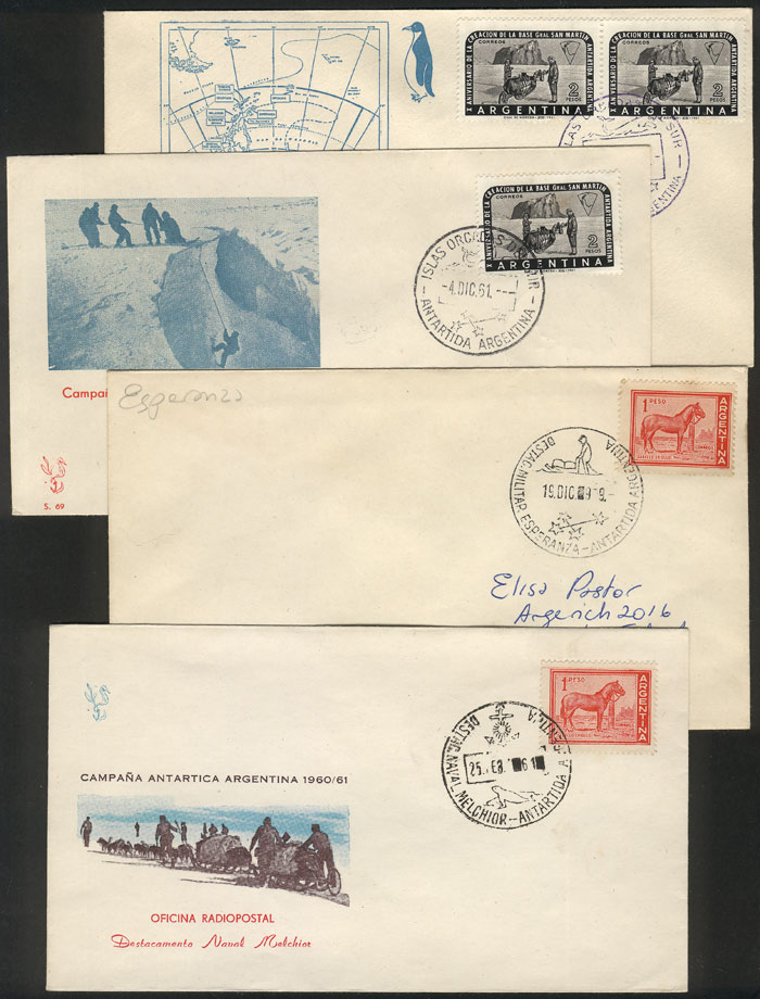 Lot 57 - argentine antarctica Lots and Collections -  Guillermo Jalil - Philatino Auction #1928 WORLDWIDE + ARGENTINA: General Winter auction