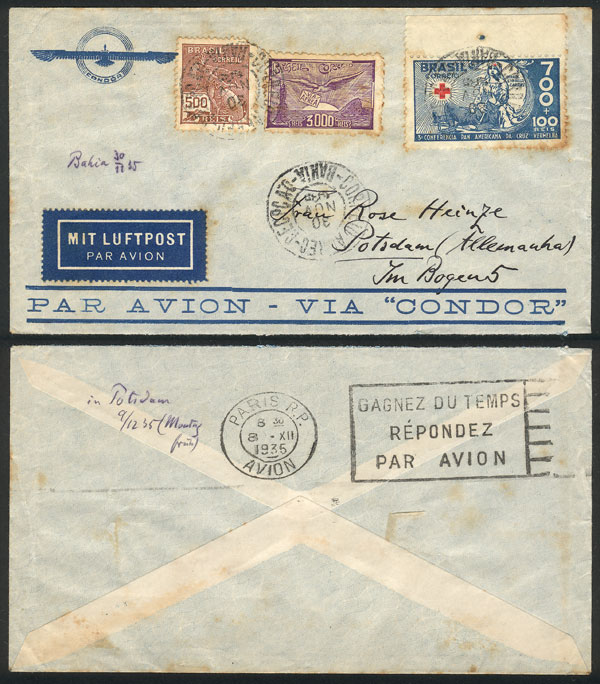 Lot 536 - brazil postal history -  Guillermo Jalil - Philatino Auction #1928 WORLDWIDE + ARGENTINA: General Winter auction