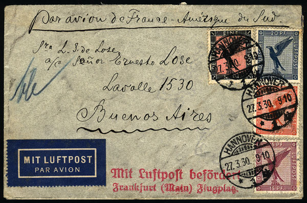 Lot 20 - germany postal history -  Guillermo Jalil - Philatino Auction #1928 WORLDWIDE + ARGENTINA: General Winter auction