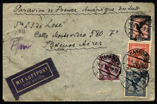Lot 23 - germany postal history -  Guillermo Jalil - Philatino Auction #1928 WORLDWIDE + ARGENTINA: General Winter auction