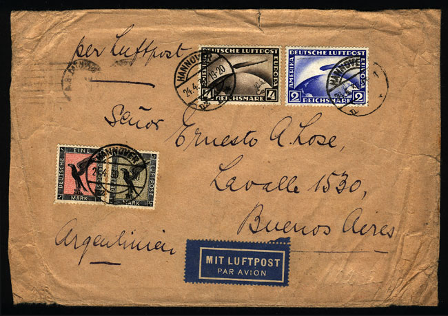 Lot 21 - germany postal history -  Guillermo Jalil - Philatino Auction #1928 WORLDWIDE + ARGENTINA: General Winter auction