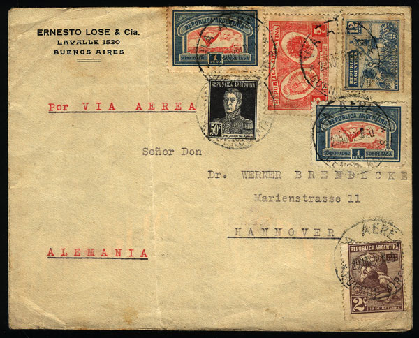 Lot 326 - Argentina postal history -  Guillermo Jalil - Philatino Auction #1928 WORLDWIDE + ARGENTINA: General Winter auction