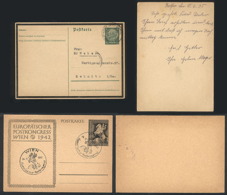 Lot 19 - germany postal history -  Guillermo Jalil - Philatino Auction #1928 WORLDWIDE + ARGENTINA: General Winter auction