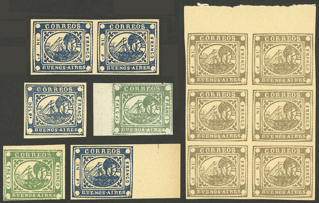 Lot 34 - Argentina barquitos -  Guillermo Jalil - Philatino Auction #1931  ARGENTINA: Auction with interesting lots at budget prices!