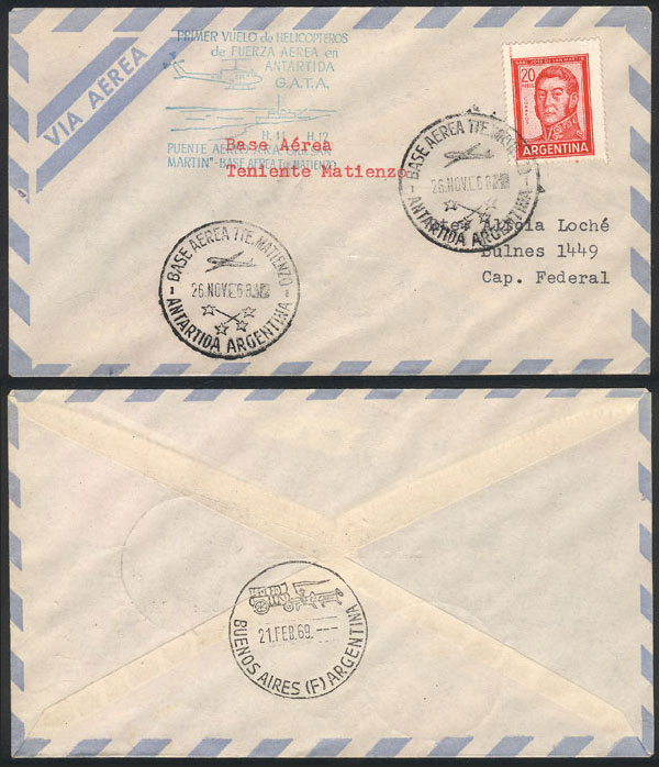 Lot 9 - argentine antarctica postal history -  Guillermo Jalil - Philatino Auction #1931  ARGENTINA: Auction with interesting lots at budget prices!