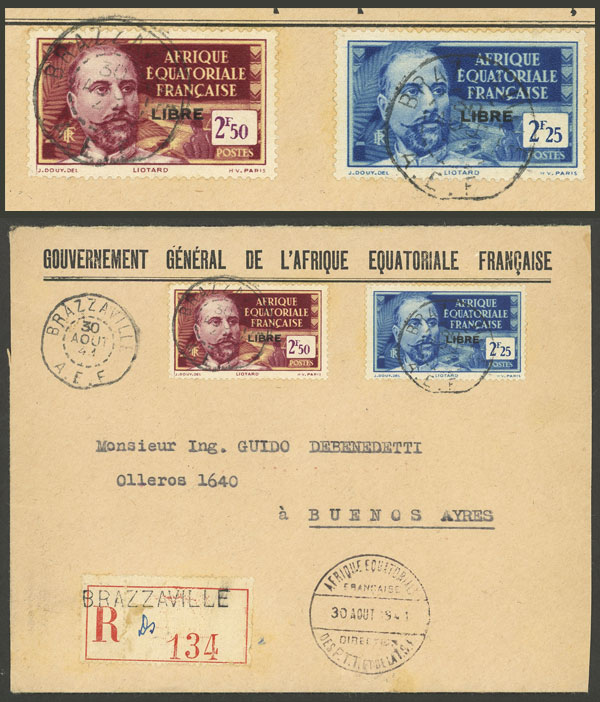 Lot 2 - French Equatorial Africa postal history -  Guillermo Jalil - Philatino Auction #1937 WORLDWIDE + ARGENTINA: special September auction