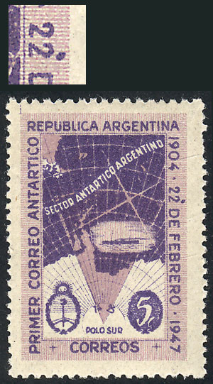 Lot 419 - Argentina general issues -  Guillermo Jalil - Philatino Auction #1938  ARGENTINA: small but very attractive auction