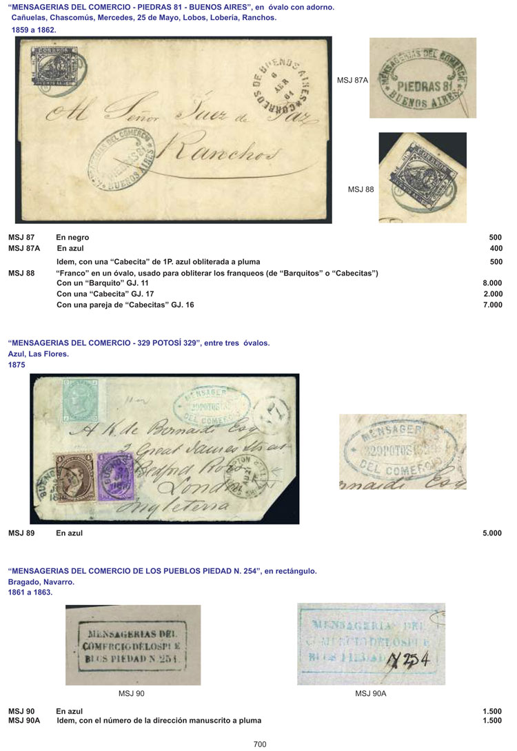 Lot 1 - Argentina books -  Guillermo Jalil - Philatino Auction #1939 ARGENTINA - OFFICIAL STAMPS - 116 RARE LOTS 116