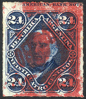 Lot 25 - Argentina official stamps -  Guillermo Jalil - Philatino Auction #1939 ARGENTINA - OFFICIAL STAMPS - 116 RARE LOTS 116