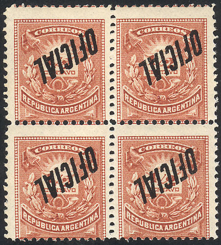 Lot 11 - Argentina official stamps -  Guillermo Jalil - Philatino Auction #1939 ARGENTINA - OFFICIAL STAMPS - 116 RARE LOTS 116