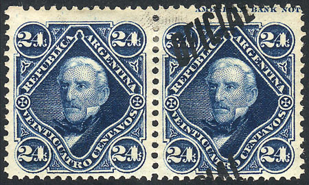 Lot 21 - Argentina official stamps -  Guillermo Jalil - Philatino Auction #1939 ARGENTINA - OFFICIAL STAMPS - 116 RARE LOTS 116