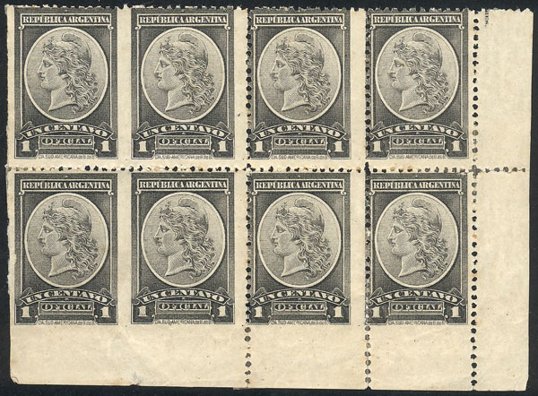 Lot 29 - Argentina official stamps -  Guillermo Jalil - Philatino Auction #1939 ARGENTINA - OFFICIAL STAMPS - 116 RARE LOTS 116